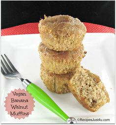 Vegan Banana Walnut Muffins
