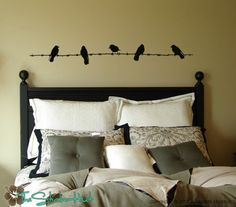 Birds on Barbed Wire Fence Wall Art Graphics Lettering Decals Stickers 935. $27.99, via Etsy.