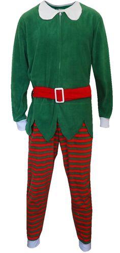 WebUndies.com Red And Green Christmas Elf Onesie Pajama