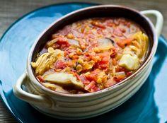 Lentil Artichoke Stew #MeatlessMonday via @Fitbie
