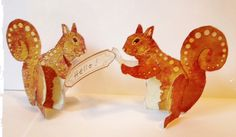 FREE printable Squirrel Place Cards  | Thetoymaker.com