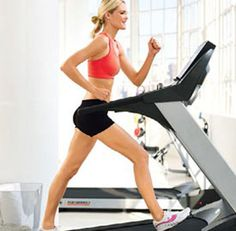 Treadmill Interval Workout:     Running  Walking lunges  Squats  Side Shuffles