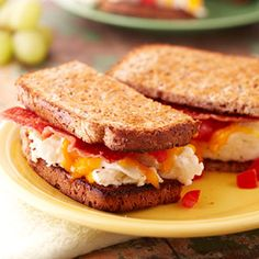 Egg and Turkey Bacon Sandwich