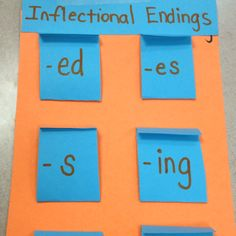 Inflectional Endings Flipbook