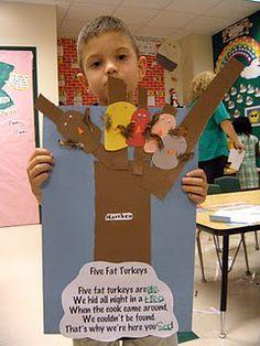 Five Fat Turkeys Sight Word Poem