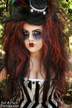 Fun gothic doll makeup & costume