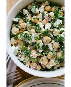 chick pea, parsley and feta salad