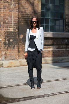 Australia Fashion Week Style Spring 2013 - Tash Sefton. Wearing bassike shoes, Camilla & Marc jacket, givenchy clutch