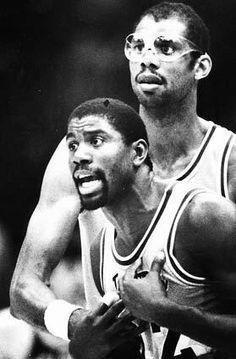 Magic Johnson and Kareem Abdul Jabbar