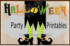 Free Halloween Party Printables and Ideas