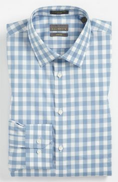 Calibrate Slim Fit Non Iron Gingham Dress Shirt available at #Nordstrom