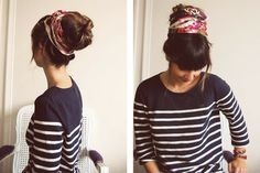 The sock bun I have yet to try.