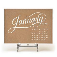 Kate Desk Calendar, $52 | Sugar Paper