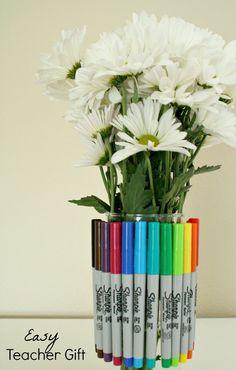 Easy Back to School Gift Teachers Will Love~Sharpie Vase #StaplesBTS #PMedia #ad
