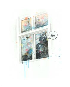 Space Window   Limited Edition Print by Lora Zombie