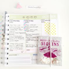 Planner+Sequins Notebook Ideas | A Planner with Neon MT Washi Tape planner, washi tape