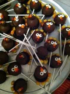 Thanksgiving cake pops