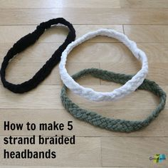 DIY: 5 Strand Braided T-Shirt Headband Tutorial