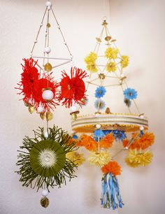 crafti, chandeliers, mobiles, craft idea, papers, minis, flowers, diy, polish
