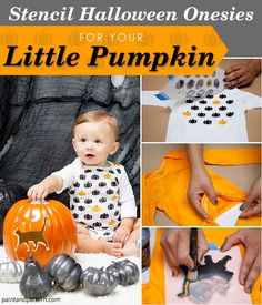 How to Stencil a Halloween Onesies for DIY Holiday Baby Clothing or Gift - Stencils from Royal Design Studio