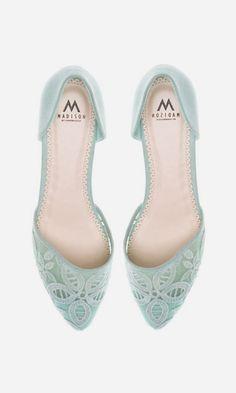 lace shoe, mint lace, mint and blue outfit, bridesmaid shoes, blue lace, light blue flats, flat shoes, mint flats, lace flats