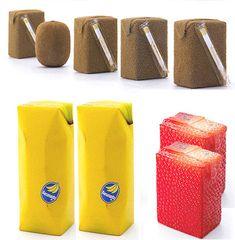 naoto fukasawa, food packaging, foods, juic box, colors, bananas, boxes, drinks, design