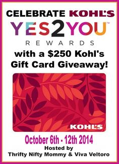 Kohl's 250 Giveaway 2