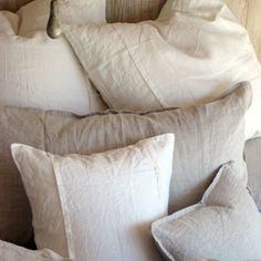 Organic Linen bedding, to be layered onto master bedroom bed. Use linen, cotton, faux fur textures.