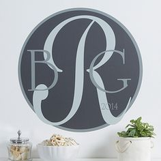 Monogram Personalized Wall Art Decal