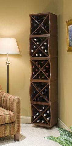 Standing Wood Wine Rack