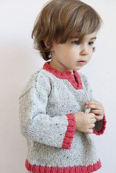 babaà — Jumper No.3 Coral sweater, fashion, carrot, bebesbabi knit, children knitwear, tejido, kid knit, babaà, jumper