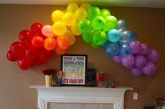 Rainbow Party #parties, #balloons, #rainbows, #pinsland, https://apps.facebook.com/yangutu/