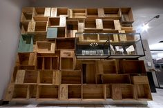 Cool use of crates. Maybe a crate wall for shoes and accessories... painted silver or white?