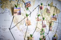 Show your wedding guests where you've been on your many adventures as a couple, or plan out new ones, with the PREMIÄR world map.