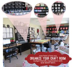 Amazing craft/sewing room organization How To's from Sew Many Ways.