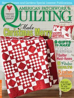 "A great big thank you to American Patchwork & Quilting magazine for selecting my poinsettia table runner and place mats for the December 2014 issue which hits the stands on October 7. See my project, as well as other featured projects from this issue at: www.allpeoplequilt.com/december    ""Used with permission from American Patchwork & Quilting® magazine. ©2014 Meredith Corporation. All rights reserved."""