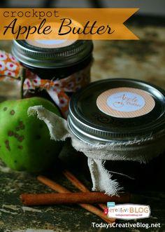 Slow Cooker Apple Butter for Slow Cooker Sunday | TodaysCreativeBlog.net  Crockpot Recipes - Slow Cooker Recipes