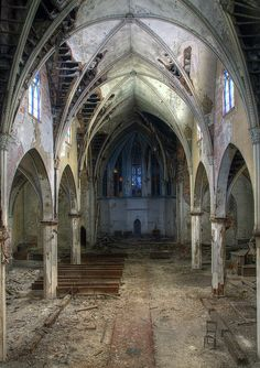 Abandoned church, Buffalo, New York by Timothy Neesam (GumshoePhotos), via Flickr