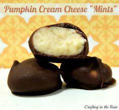 "Pumpkin Cream Cheese ""Mints"""