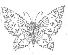 free vintage embroidery patterns: Butterflies free vintag, craft, embroidery patterns, embroideri pattern, butterflies, crochet, vintag embroideri, french knots, vintage embroidery