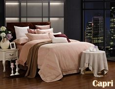 Capri Bedding Luxury Bed Linen Set Dolce Mela Queen Duvet Set