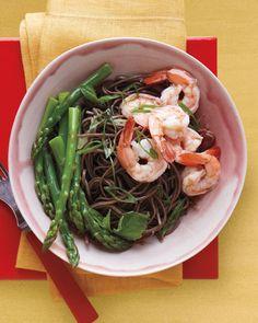 Soba Salad with Asparagus and Shrimp Recipe