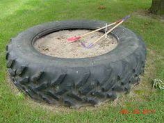 Tractor tire sandbox