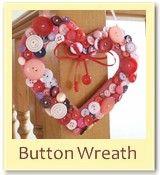 Valentines button wreath