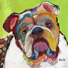"Saatchi Art Artist Michel Keck; Painting, ""English Bulldog"" #art"