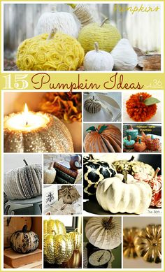 Different, funky Fall Decor and DIY pumpkin Ideas