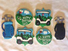 Golf sugar cookies on Etsy, $36.00