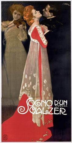 Leopoldo Metlicovitz, Sogno d'un Valzer, 1910.