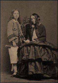 Elizabeth Barrett Browning and her son.