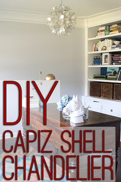 How to make a DIY capiz shell chandelier like the high-end versions for MUCH less!